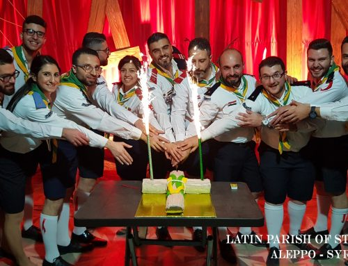 The celebration of the Latin Scout 73rd anniversary in Aleppo