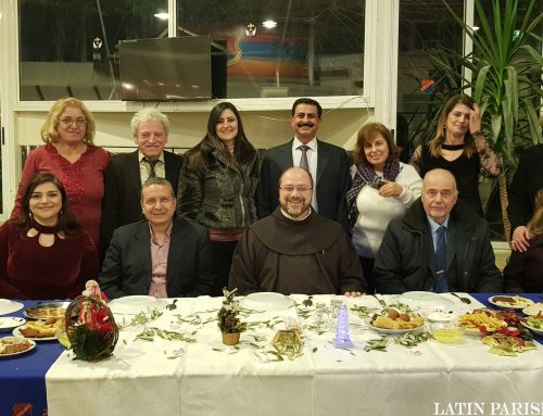 حفلة في مطعم اليرموك بمناسبة عيد الميلاد المجيد لأعضاء التعليم الاجتماعي
