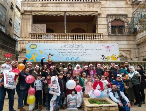 our children in the catechism center on a visit to the Syrian Society for the treatment and care of children's cancer