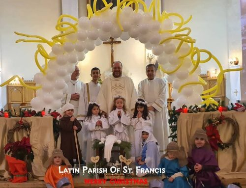 A live crib of nativity from our children in catechism