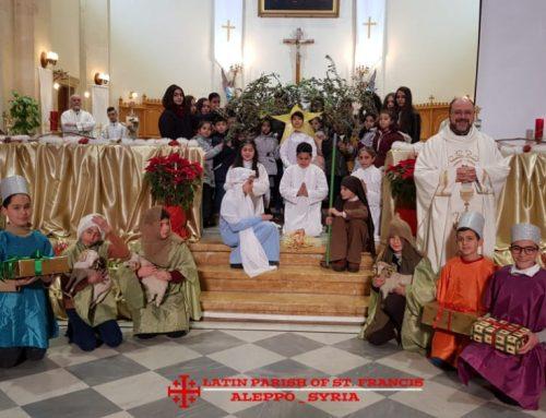 Crèche vivante à l'exemple de notre patron St François d'Assise