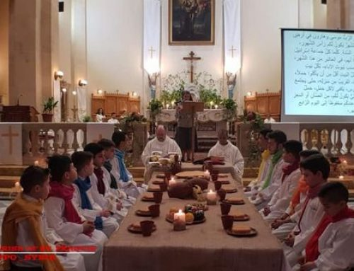 The Holy Thursday with the children of the Franciscan Sunday catechesis