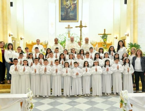 We celebrated the First Holy Communion in our parish.
