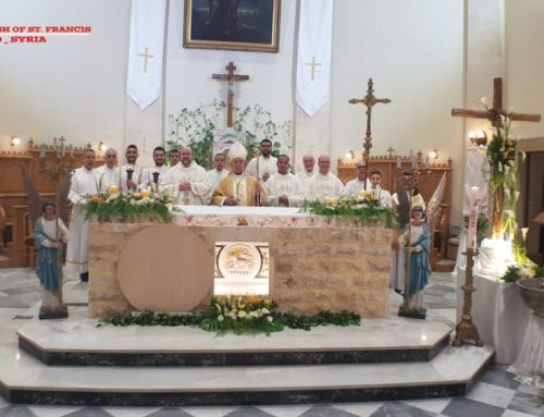 the ceremonial mass on Easter Sunday