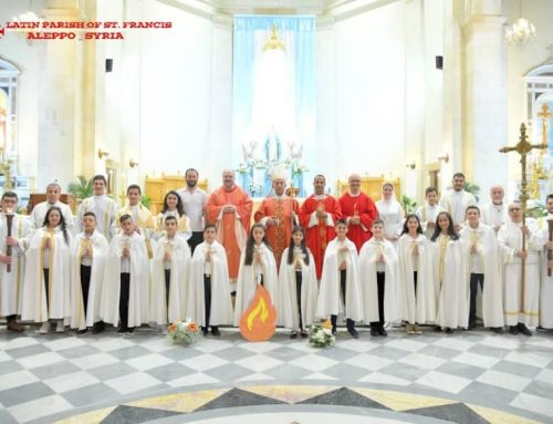 La célébration du Sacrement de la Confirmation dans notre paroisse.